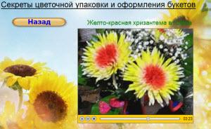 одноголовая хризантема с цветочной краской букет