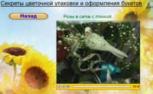 видео розы в сетке с птичкой